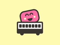 Marshmallow icon bus