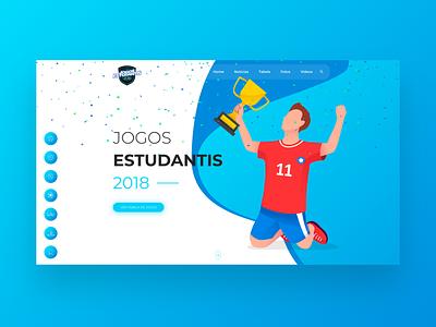 Jogos Estudantis ui website design