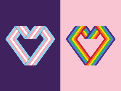Pride Flag Hearts