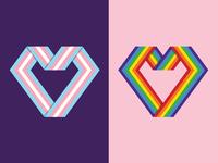 Pride Flag Hearts