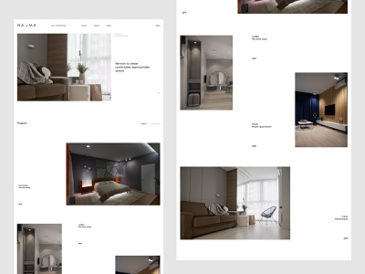 Naoma - Interior Design Studio Concept website ux ui studio homepage design interior homepage flat exterior design design studio concept clean architechture
