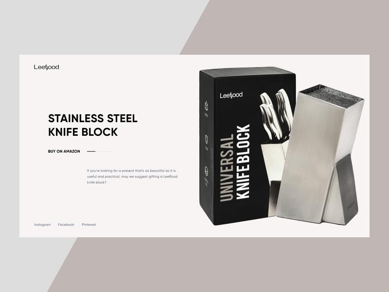 Leeffood - Kitchen Brand on Amazon modern design knives kitchen tools ux ui photo clean design