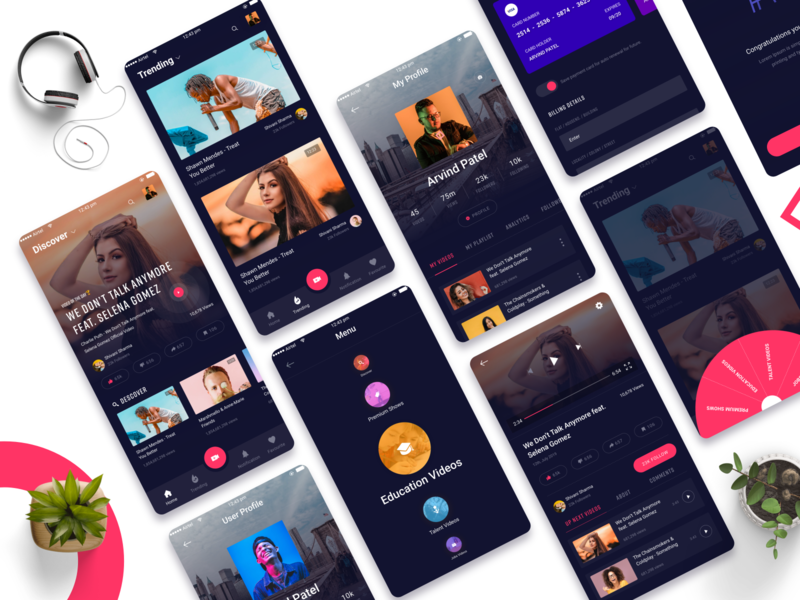 Video Streaming App watching netflix tiktok app profile twatwa app dark app app design sharing app video app tiktok redesigned youtube redesigned youtube youtube