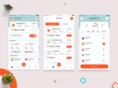 Yo Yo Test App Concept add people invite people ios app hockey app football app cricket app health status sport app