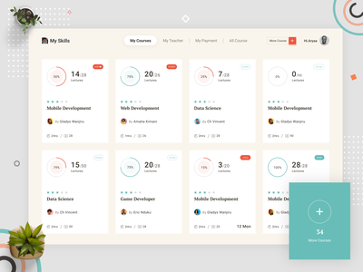 Student Dashboard home page dashboard flat design online study learning website learning platform buycourse online course dashboard design learn coding online class