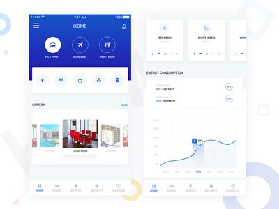 Smart Home App smart design home app ios app graph design cards design dailyui mobile dashboard home automation smart home