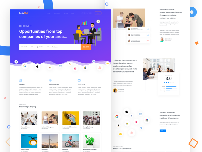 Job search portal by arvind patel dribbble dribbble - Online web designing jobs from home ...