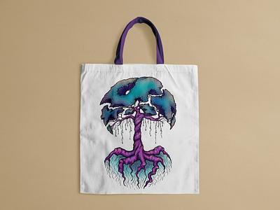Illustration for bag shopper bag ecobag tree digital illustration digital art illustrator grapgic design illustration
