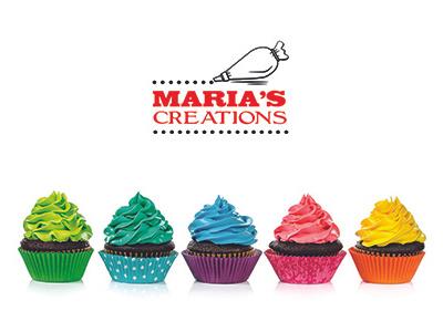 Maria's creations packaging design logo branding