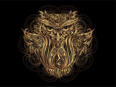 vector Owl tattoo ornamental mandala tattoo artwork bohemian zenart illustration tribal art vector design
