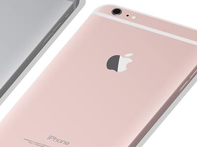 iPhone illustration in Illustrator 3D plus 6s colors color pink rose illustrator 3d apple iphone graphic illustration