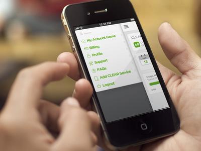 CLEAR app navigation
