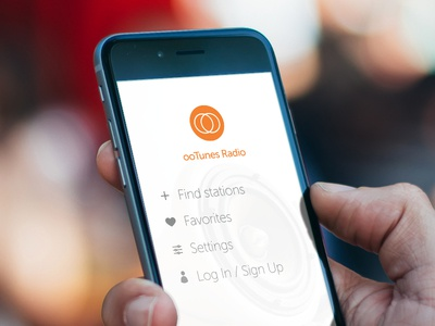 ooTunes Radio App Redesign