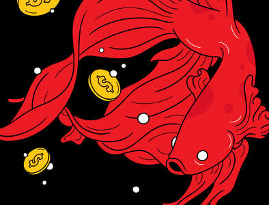 Wishing well band music wish money drawing fish album cover design vector illustrator illustration graphic artwork