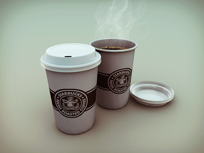 Coffe Cups coffee cups cinema 4d fresh roasted