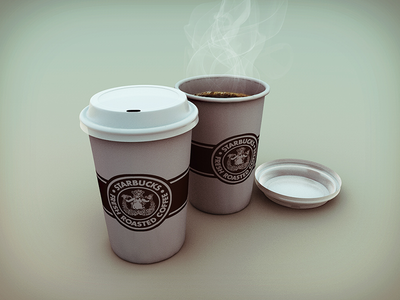 Coffe Cups coffee cups cinema 4d fresh roasted