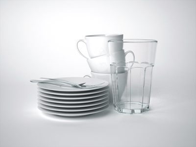 Coffee Dishes dishes 3d cinema4d maxwell studio