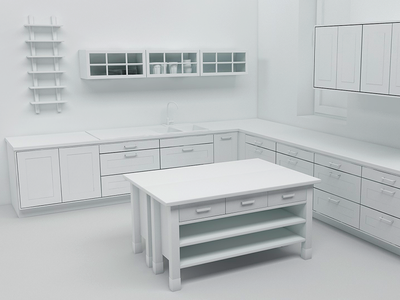 Kitchen kitchen cinema4d vray clayrender