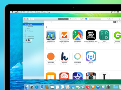 AppControl manage apps ios colorful icon apple osx itunes