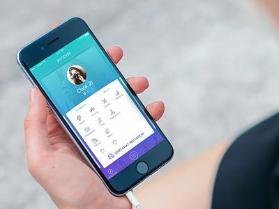 HYPH - Discover mockuuups discover events mobile beacon ui ux ibeacon app ios