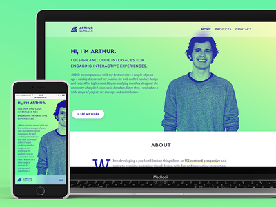 Portfolio - Arthur Schiller work swift ios development html mobile website web ux ui design portfolio
