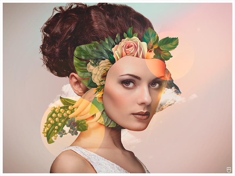 FLOWERS abstract digital manipulation photo