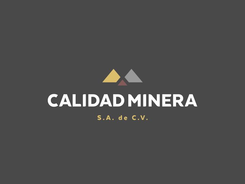 Calidad Minera logotype branding logo