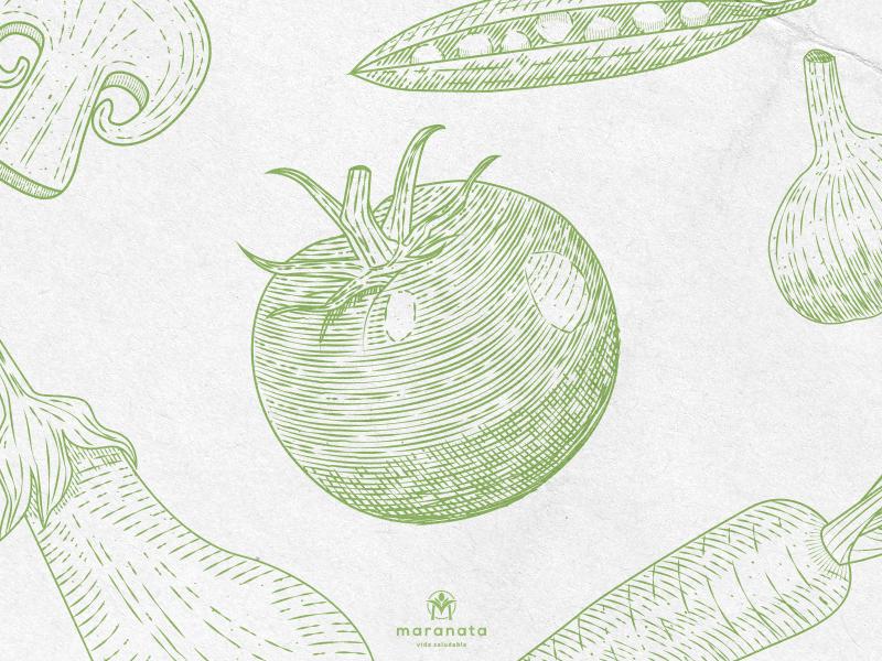 Maranata - Vida Saludable digital brand vector design logo graphicdesign illustration identity logotype branding