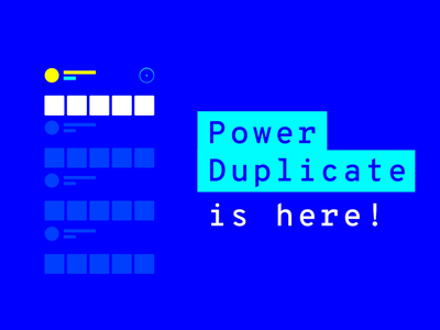 UXPin 2.0 - Power Duplicate, Smart Grid, Smart Guides duplicate guides grid blue product design motion design motion 2d feature gif aniamtion uxpin