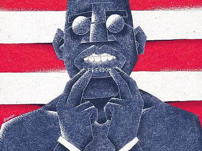 Dreamer slave slavery nwa usa freedom lennon black panther black dots handmade poster pencil samson ink sketch noise vintage illustration