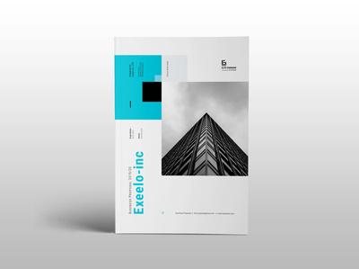 Exxeelo inc Proposal template elite-standard indesign clean branding bifold brochure annual report corporate business booklet brochure