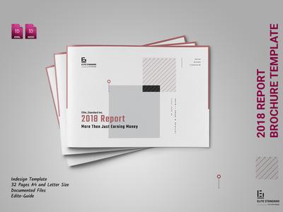 Landscape Brochure layout design classic clean corporate report annual brochure