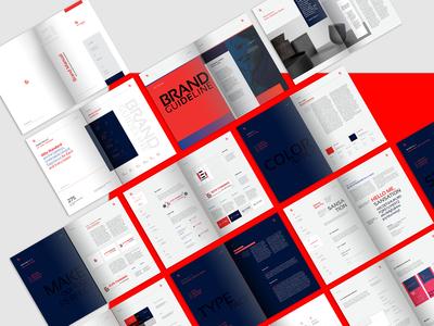 Brand Manual Template template print studio elite-standard red visual how we look brand manual manual guide branding brand company corporate booklet brochure