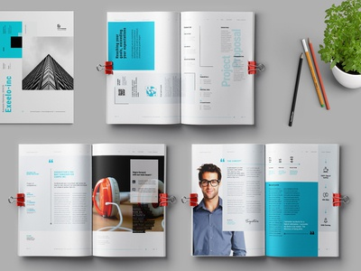 Proposal Template ashuras proposal template branding brand business bifold brochure annual report layout indesign elite-standard design clean classic annual booklet corporate brochure