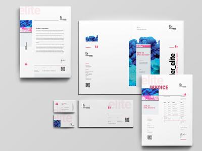 Stationery stationary design stationary template print ad branding brand agency