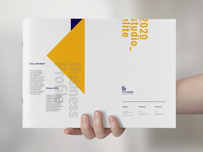 Horizontal Company Profile design annual report brochure annual report clean classic ashuras bifold brochure business layout template elite-standard indesign brand annual booklet corporate branding brochure