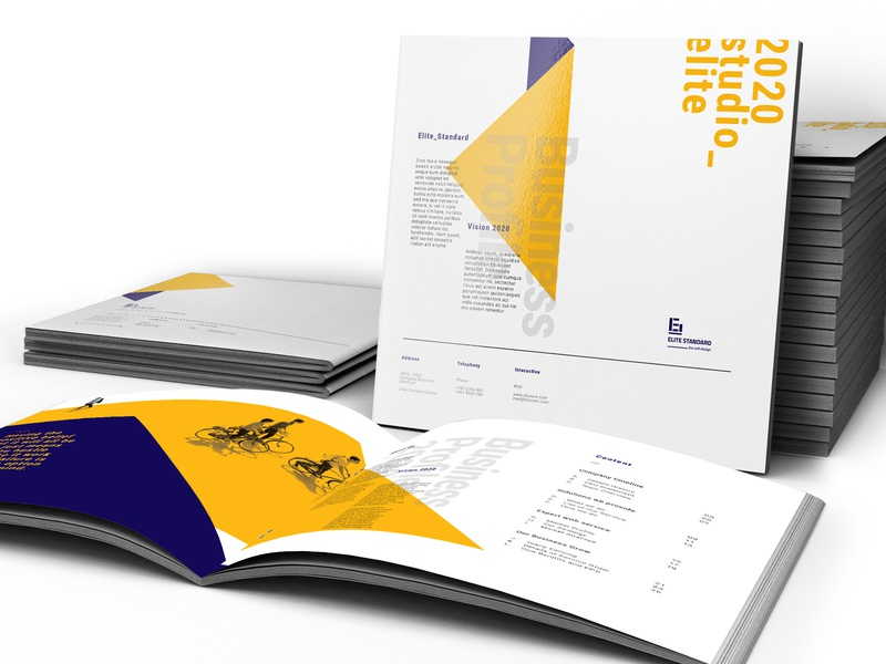 Square Company Profile ashuras bifold brochure business layout annual report indesign elite-standard clean branding brand corporate template brochure