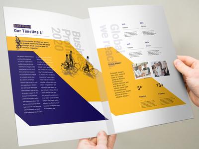 3xA4 Trifold Brochure classic design booklet layout indesign corporate annual report elite-standard brand branding template brochure