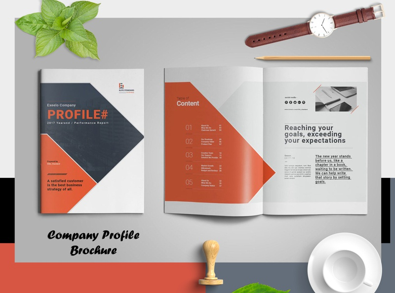 Company Profile Brochure indesign annual report brochure design brand branding bifold brochure corporate business booklet annual report brochure
