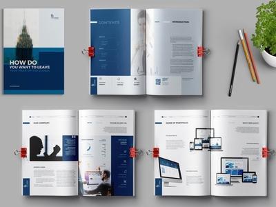Brochure Template indesign annual report brochure branding clean bifold brochure corporate business annual report booklet brochure