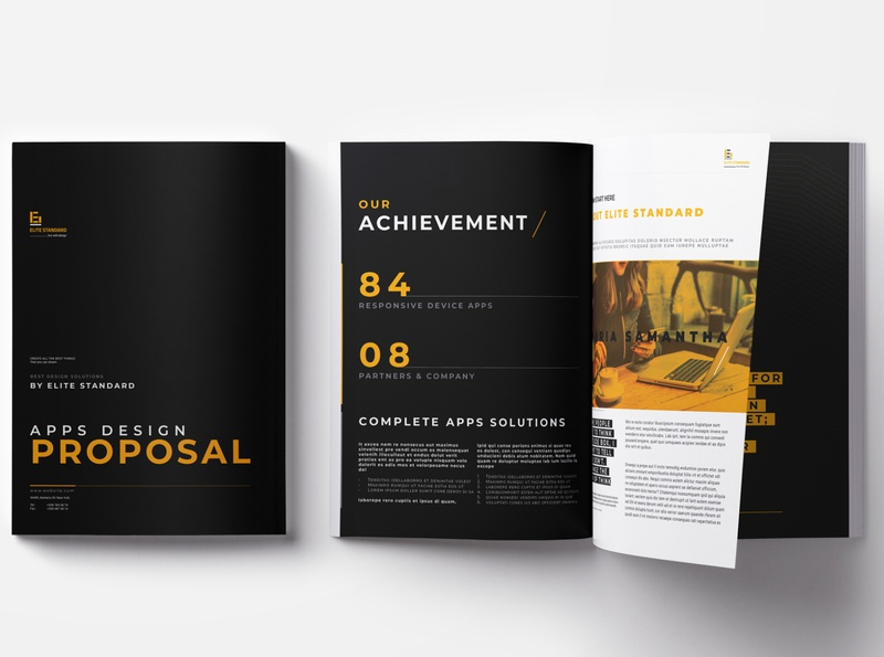 Proposal Template proposal design website project proposal contract acceptance business plan case study project management proposal template branding clean corporate business booklet brochure