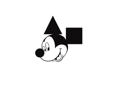 My Geometrical Primitives art graphic design disney mickey mouse triangle square circle primitive geometric