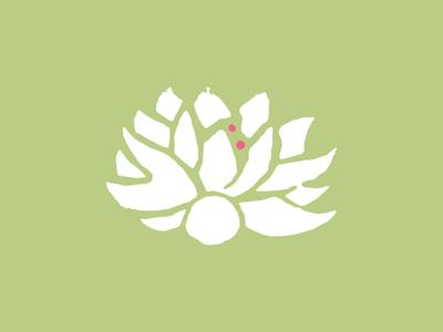 ShanTee stamp design accessories yoga lotus identity branding brandmark icon logo