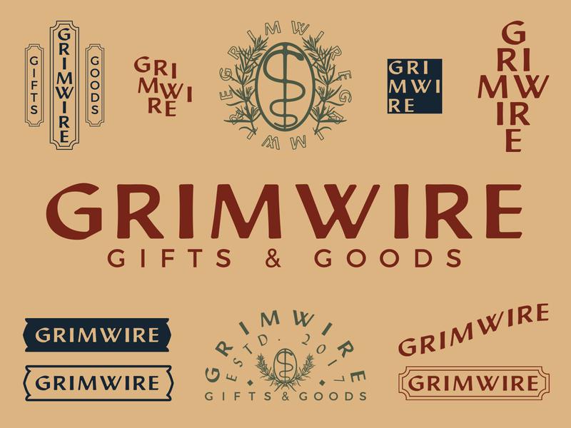 Grimwire Rebrand japanese esoteric rebranding rebrand typography vector design dark branding logo illustration