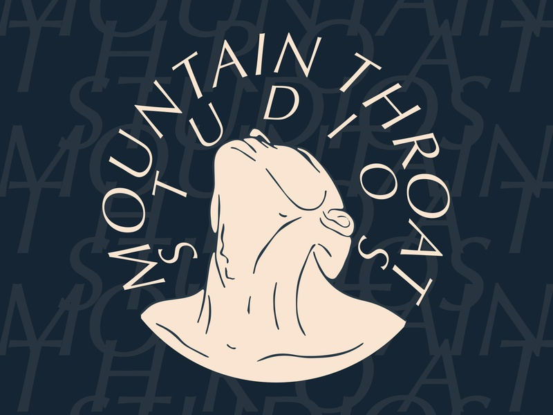 Mountain Throat Studio illustration vector icon logo brand
