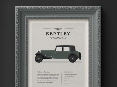 1930's Bentley 8 Litre - Advertisement