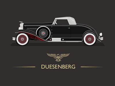 1931 Duesenberg - Whittell Coupe great gatsby cars classic luxury brand custom design art deco vintage car illustraor graphic desgin 1930s illustration classic car american usa duesenberg