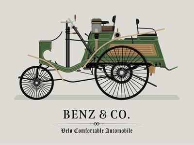 1897 Benz Velo Comfortable Automobile