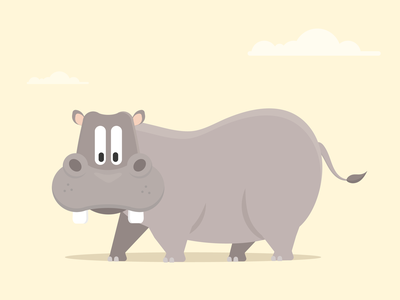 Harry The Hippo childrens illustrations wildlife kids dan kindley africa vector art animal kingdom animals character design animal illustration illustrator wild animals hippopotamus hippo illustration