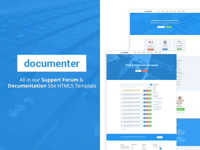 Documenter - All in One Support Forum HTML5 Site Template template website knowledgebase dwqa support forum documentation html5